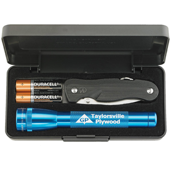 AA MiniMaglite with Leatherman Crater Pocket Knife